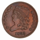 U.S. Half-cent coin, circa 18