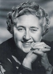 English crime writer Agatha Christie