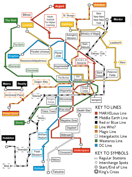 """Geek's Tube Map"" by Choquefrontal"