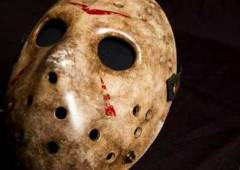 "Jason's mask from ""Friday the 13th/"" Credit: EMP Museum"