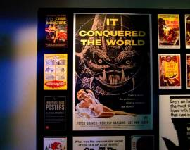 Horror movie posters displat at the EMP Museum. Credit: Angala Graves