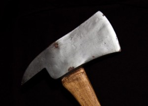 """Axe from """"The Shining,"""" 1980, from the Paul G. Allen Family Collection."""