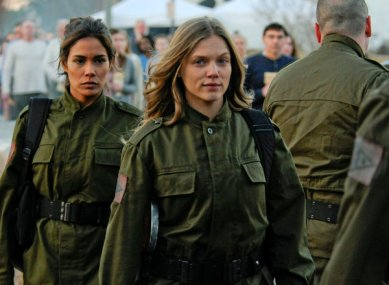 "Daniella Alonso as Nora and Tracy Spiridakos as Charlie Matheson in ""Revolution."" Credit: Brownie Harris/NBC"