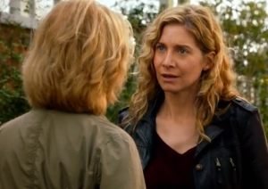 "Rachel (Elizabeth Mitchell) confronts old pal Jane in ""Revolution."" Credit: NBC"