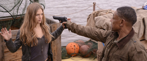 "Tracy Spiridakos as Charlie Matheson and Giancarlo Esposito as Captain Tom Neville in ""Revolution."" Credit: Brownie Harris/NBC"