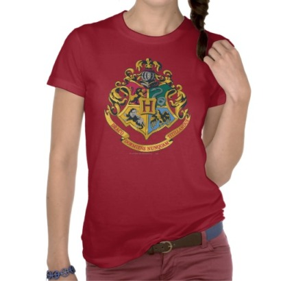 Hogwarts Four Houses Crest Tee from Zazzle.com